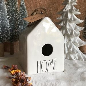 Rae Dunn Birdhouse Burlap Home Ceramic House